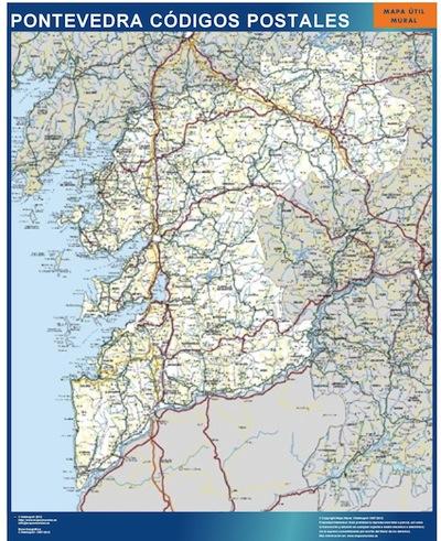 Pontevedra provincia codigos postales mapas posters for Codigo postal calle salamanca valencia