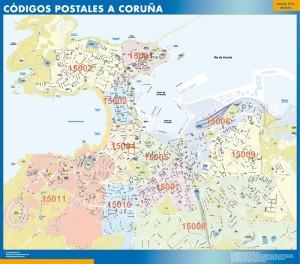 Mapa A Coruña Códigos Postales