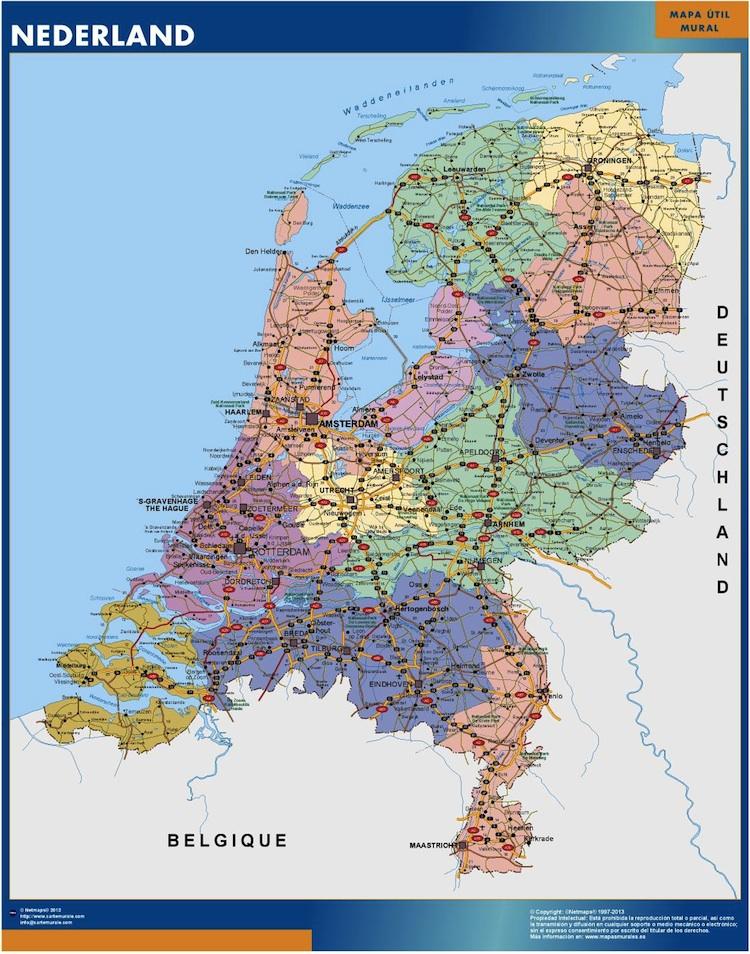 Mapas Paises Bajos Países Bajos