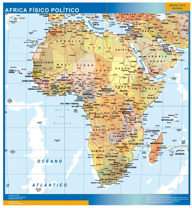 mapa africa fisico politico