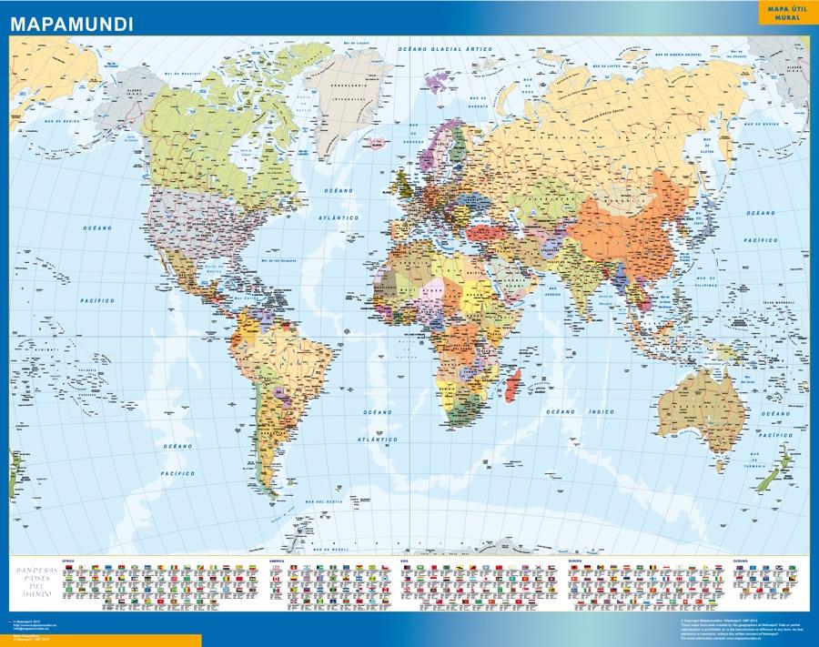 mapamundi banderas paises
