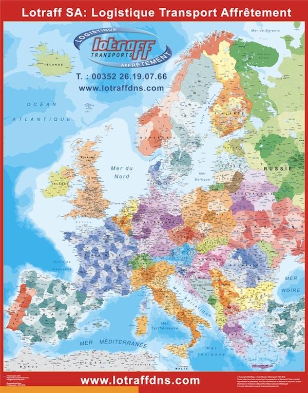 Europe codes postaux