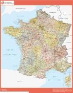 Mapa Francia. Entidad Bancaria