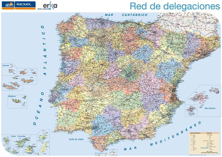 Mapa Espana Empresa Comercial Mapas Murales De Espana Y El Mundo