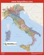 Mapa Italia. Sector Internet