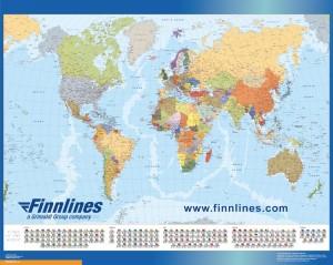 Mapa Mundo banderas