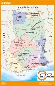 mapa carreteras ghana