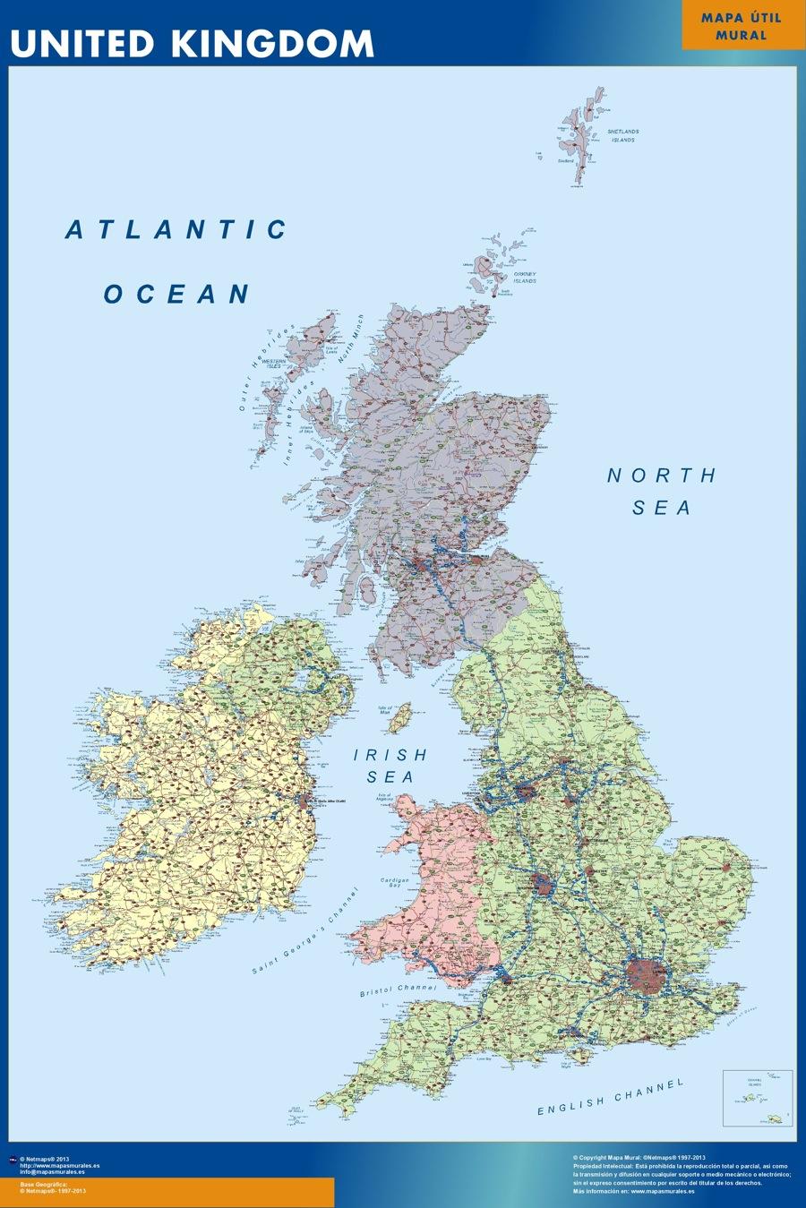 mapa carreteras reino unido