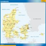 Mapa Dinamarca. Sector Educación