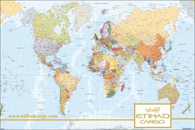 Etihad airlines world map