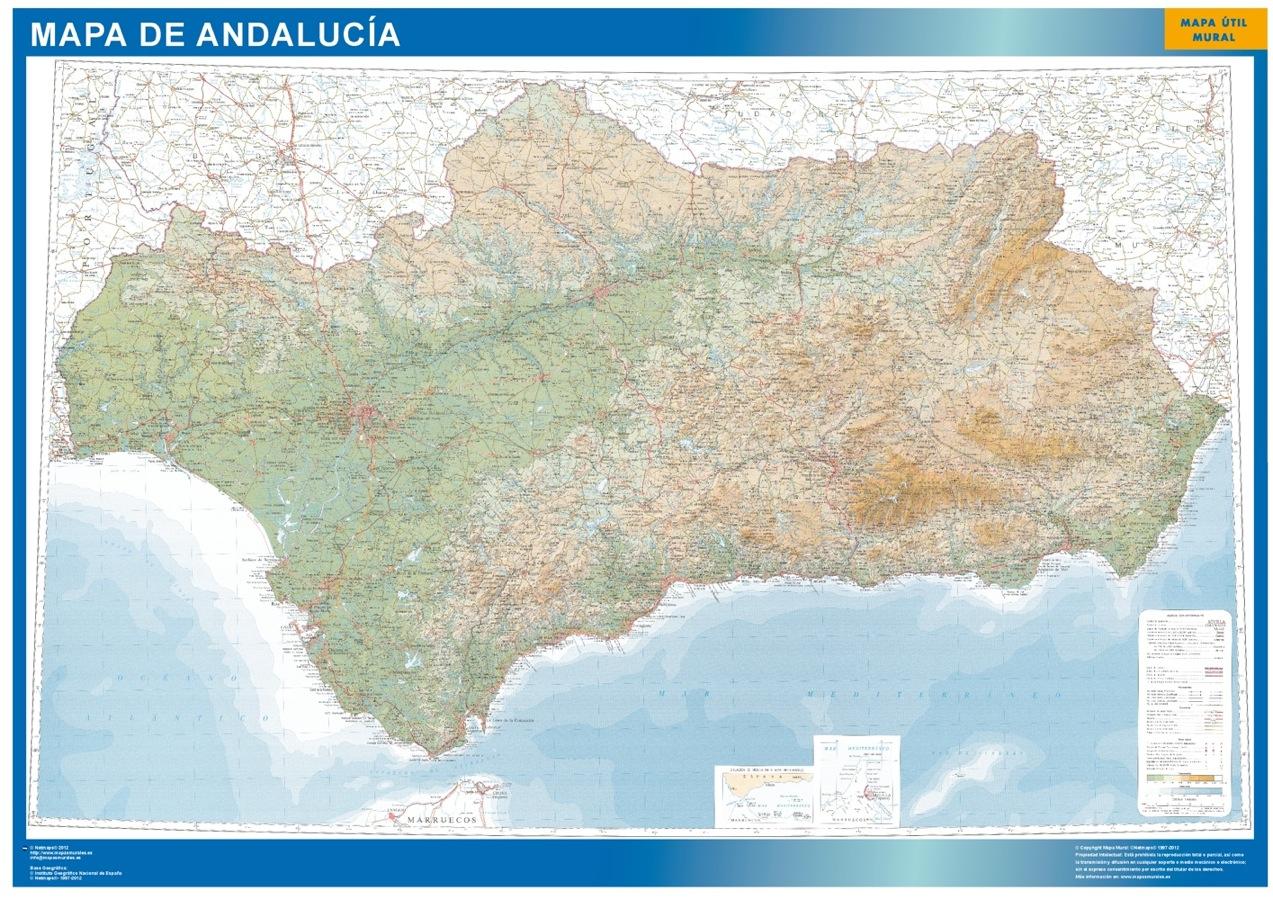 Andalucia Mapas Carreteras Mapas Murales De Espana Y El Mundo