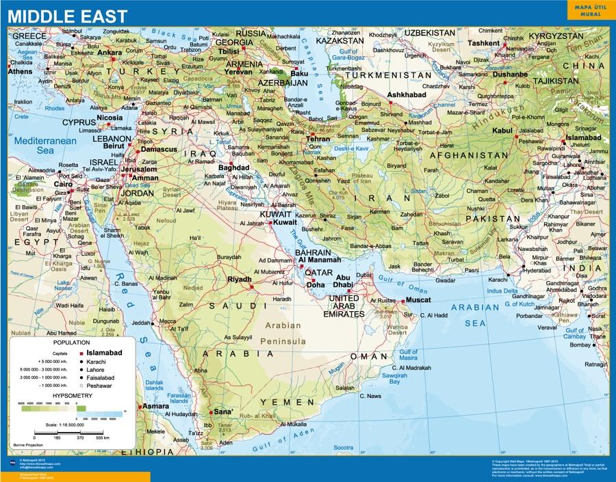 mapas oriente medio