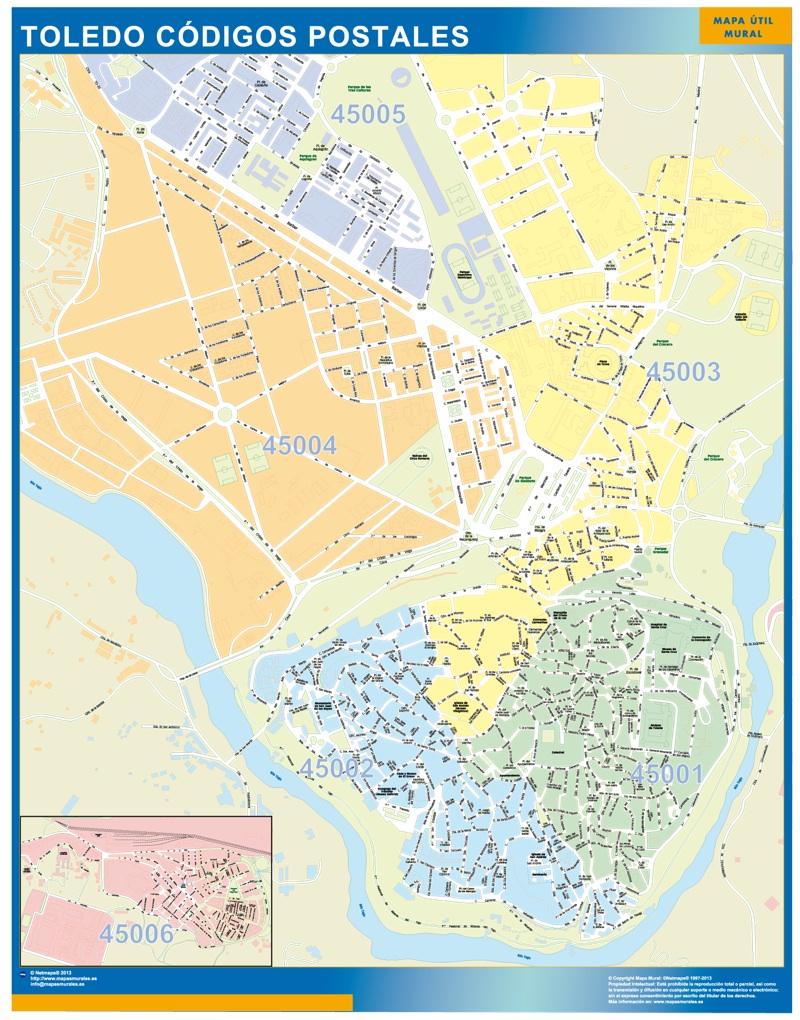 Toledo c digos postales tienda mapas posters pared for Codigo postal del barrio de salamanca en madrid