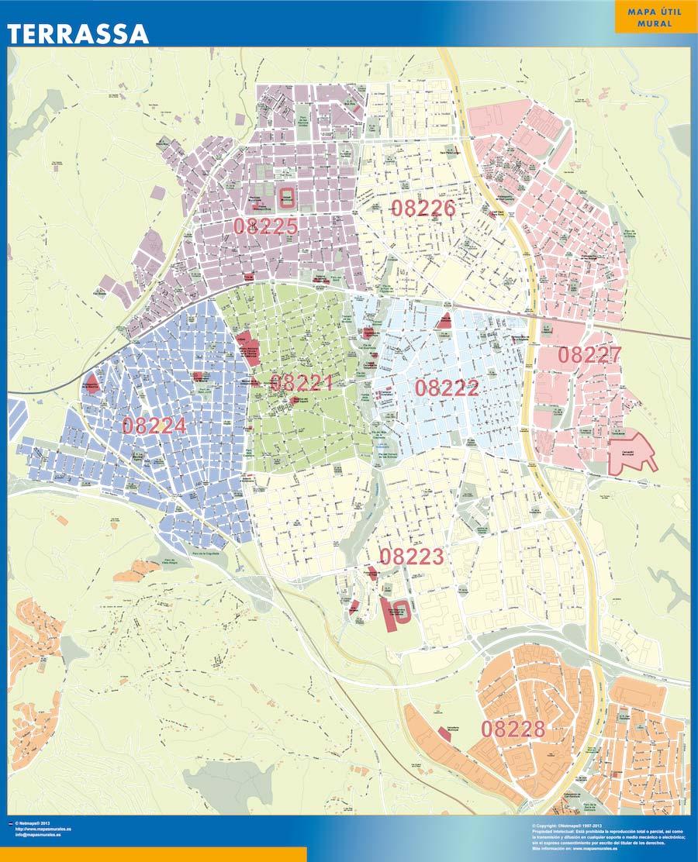 Mapa Terrassa Códigos Postales