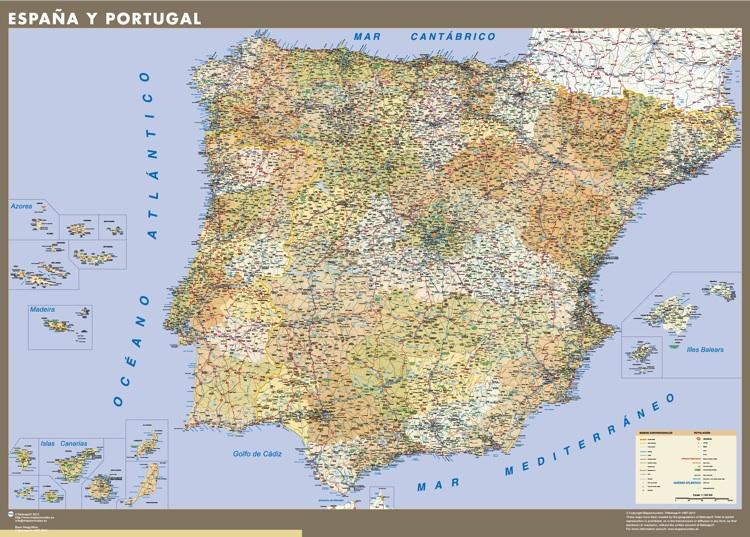 mapa espana personalizado