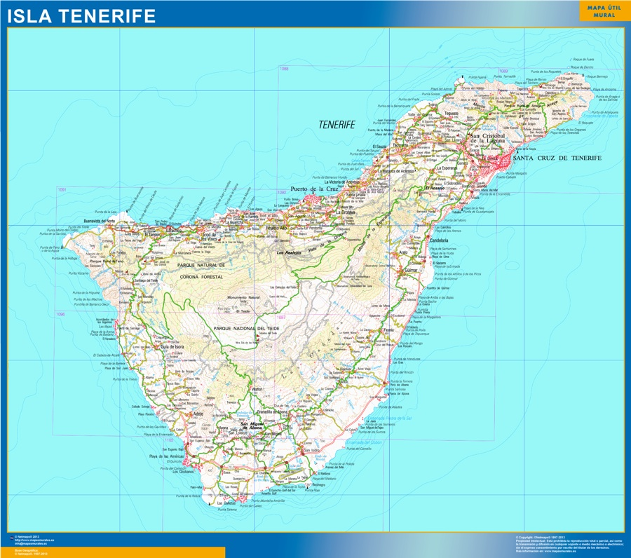 mapa isla tenerife