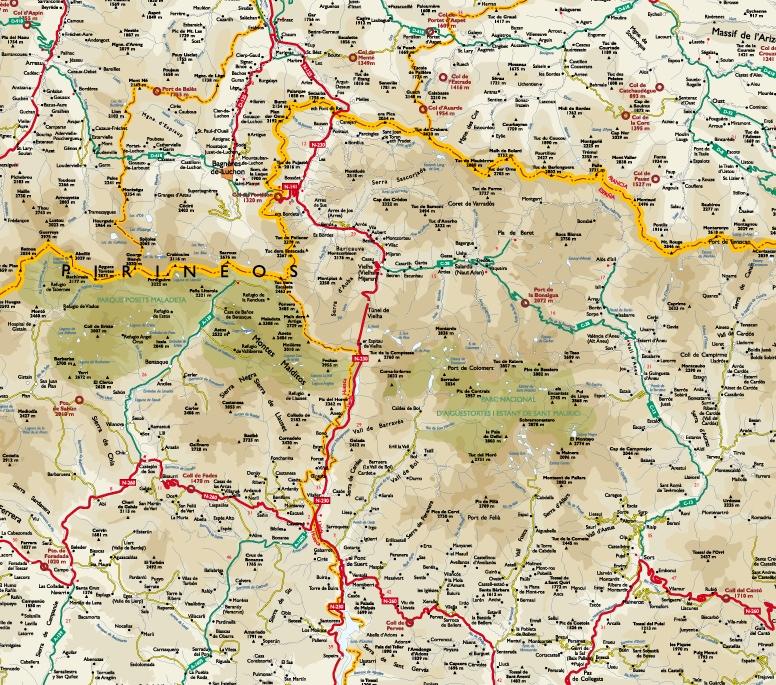 mapa pirineo