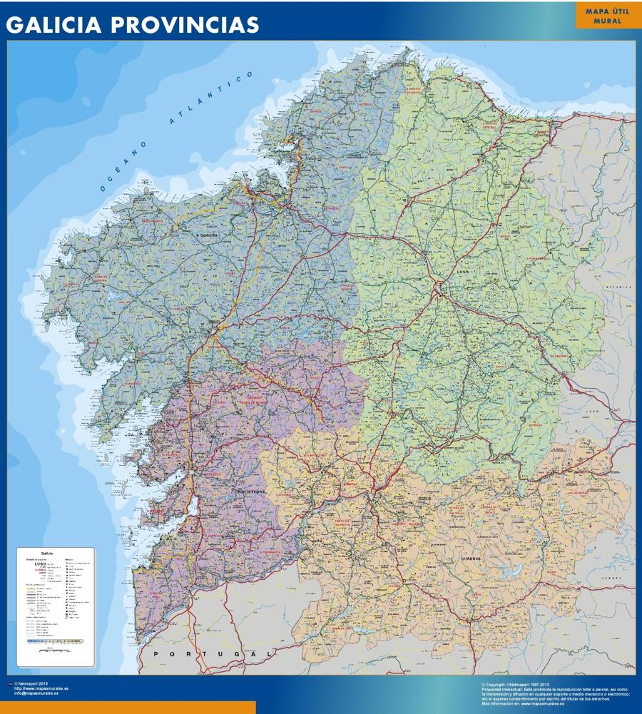 mapa galicia provincias