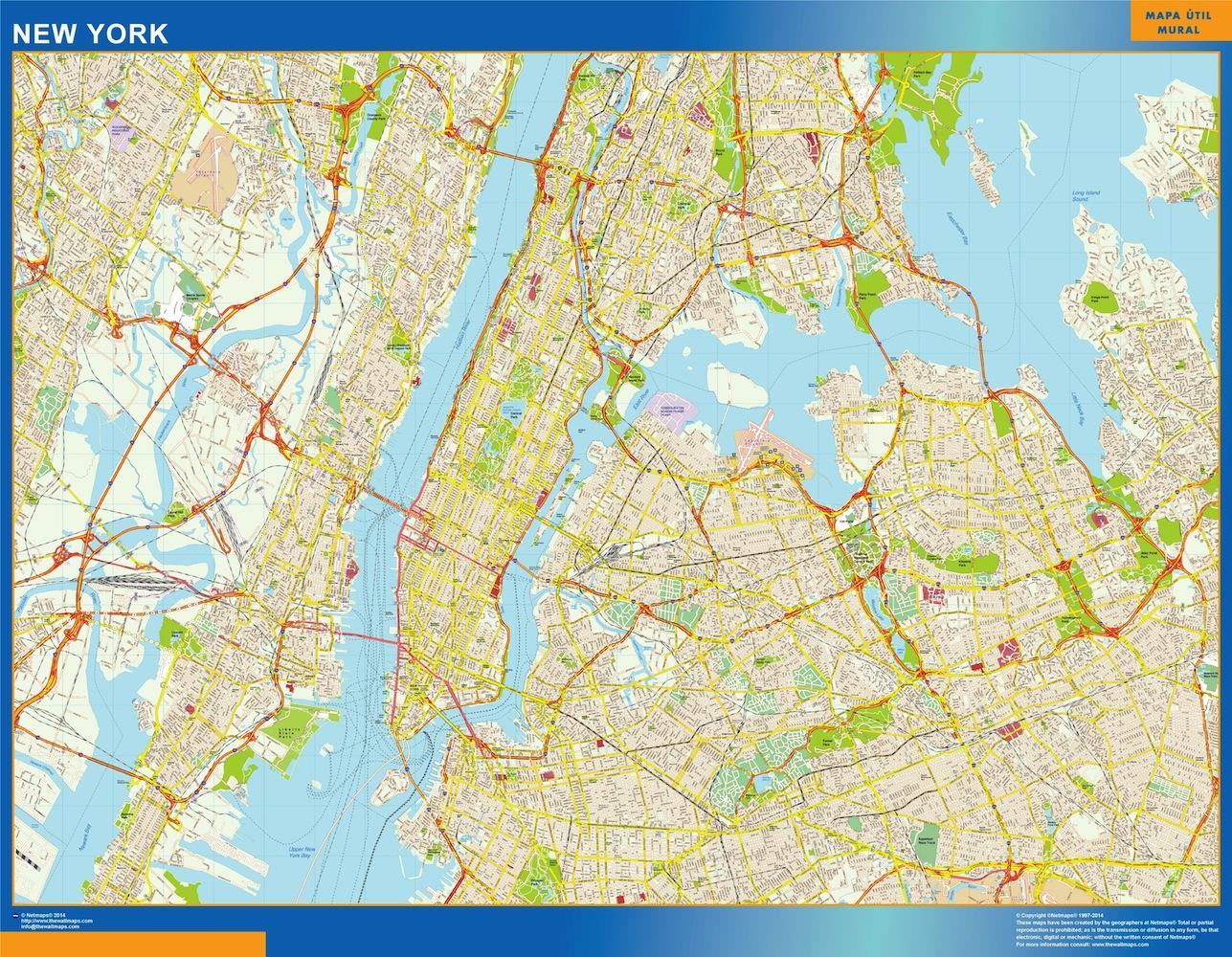 Mapa Nueva York Env 237 O Mapas Gratis En Espa 241 A Pen 237 Nsular