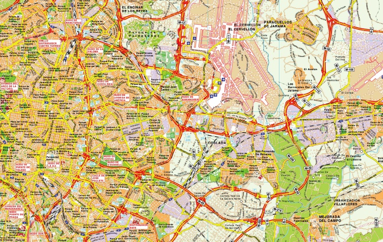 mapa gran area madrid