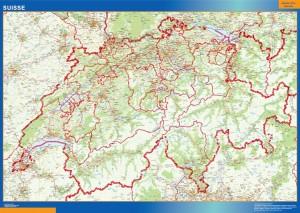 mapa mural suiza