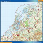 Mapa Mural Países Bajos