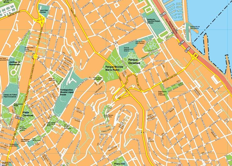 Mapas las palmas gran canaria mapas posters mundo y espa a for Codigo postal calle salamanca valencia