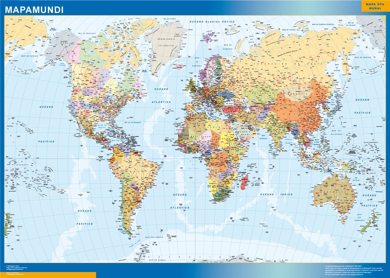 estados usa mapamundi