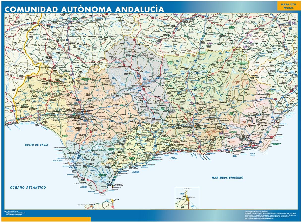 mapa andalucia por provincias