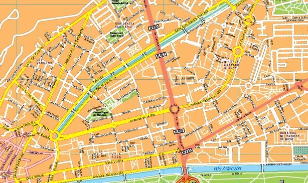 mapa centro burgos