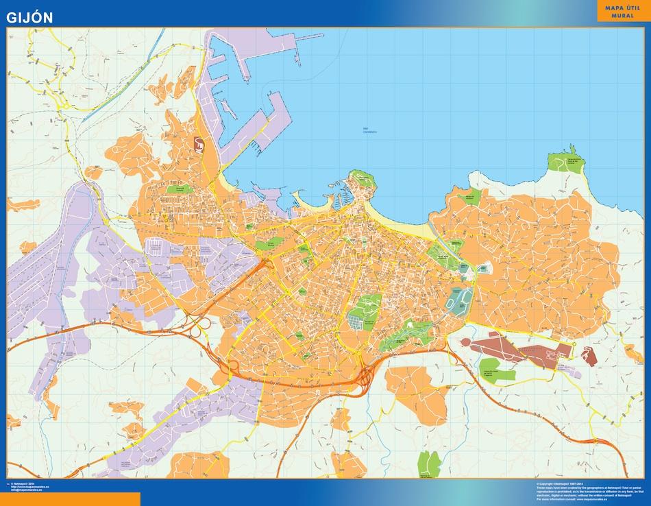 mapa gijon