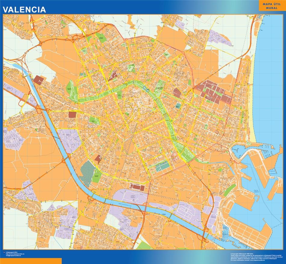 Comprar mapas valencia tienda mapas posters pared for Codigos postales madrid capital