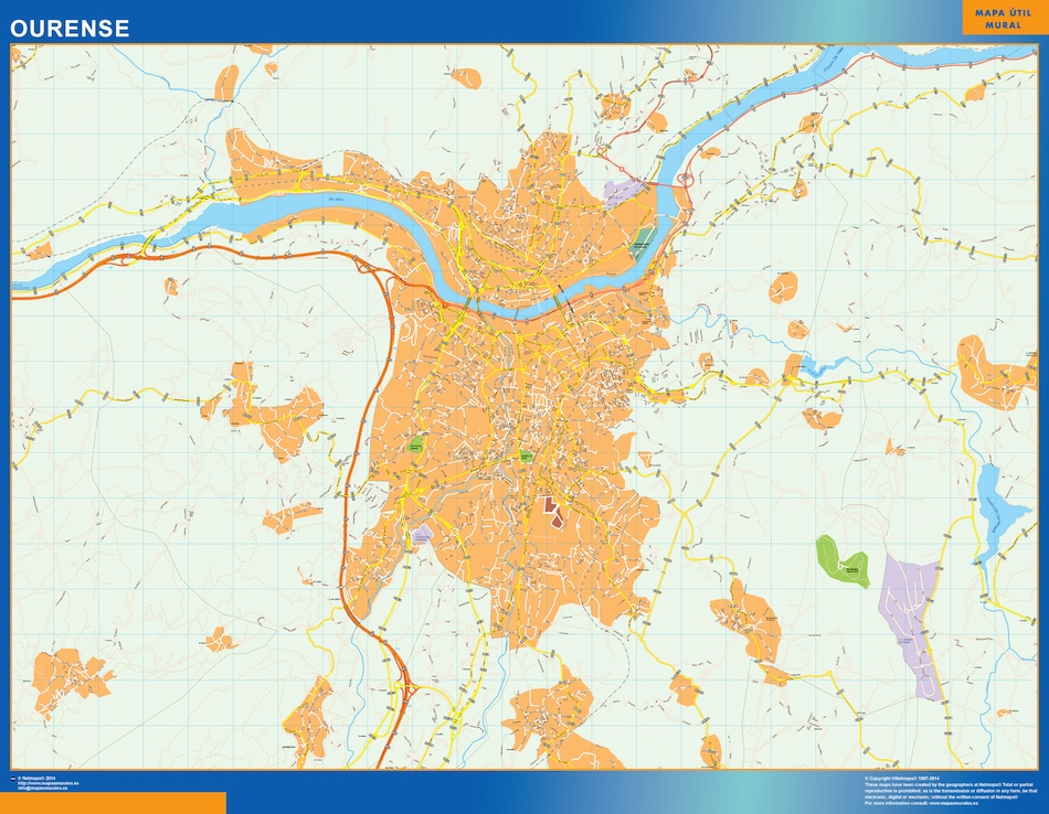 Mapas Ourense | Mapas Posters Mundo y España