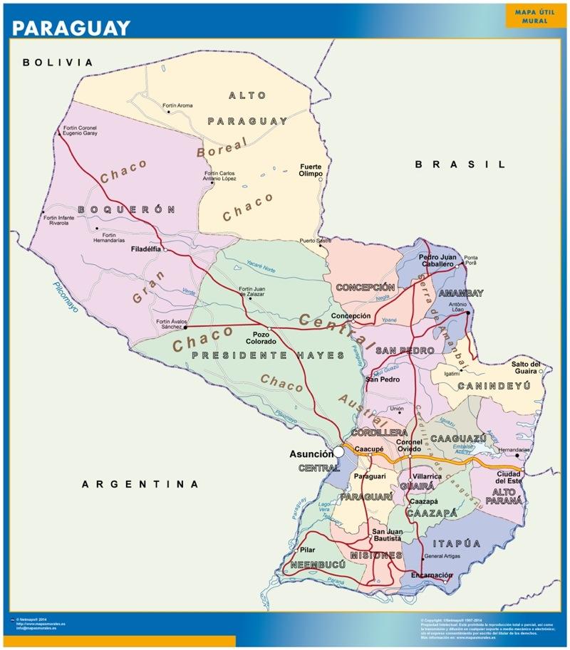 mapa paraguay