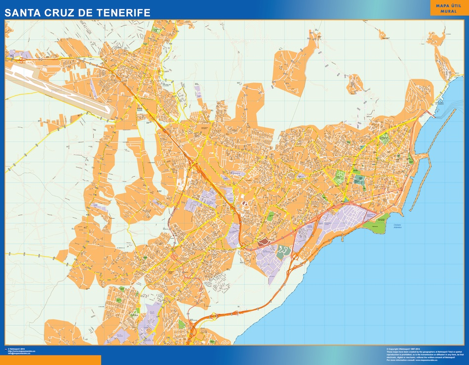 mapa santa cruz tenerife
