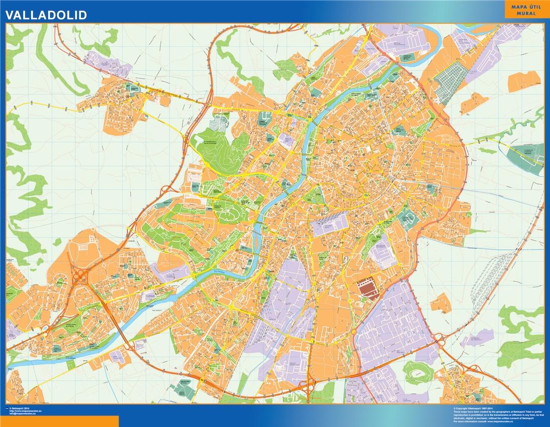 Mapa valladolid mapas posters mundo y espa a for Codigo postal calle salamanca valencia