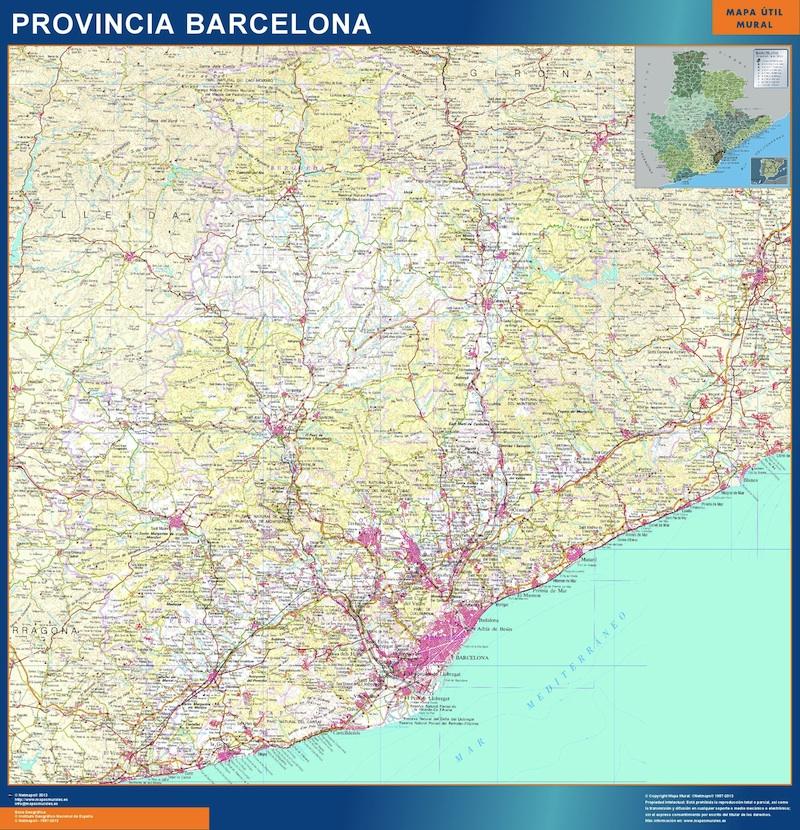 provincia barcelona relieve