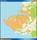 Mapa Sebastopol
