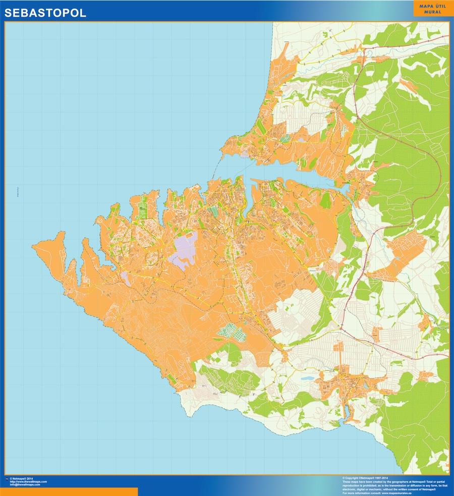 Sebastopol mapa