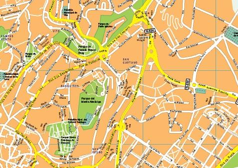 Mapa Santiago De Compostela Mapas Murales De Espana Y El Mundo