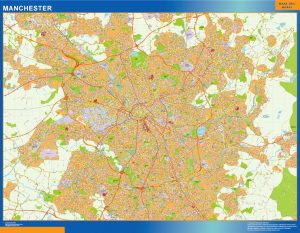 mapa mural manchester