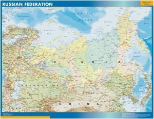 mapa rusia plastificado