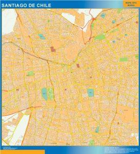 mapa santiago de chile