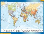 Mapamundi países con banderas