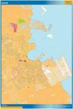 Mapa Doha (Qatar)