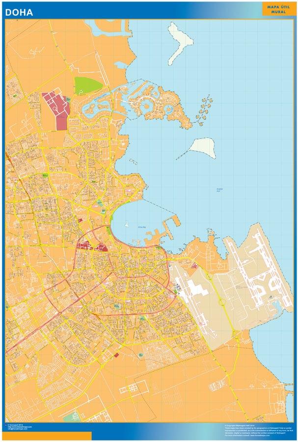 Doha wallmap