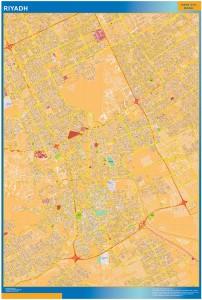 Riyadh wall map