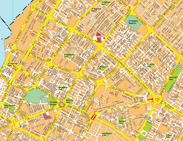 Sharjah mapa