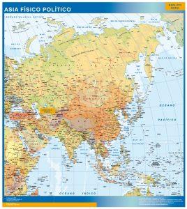 mapa asia mural