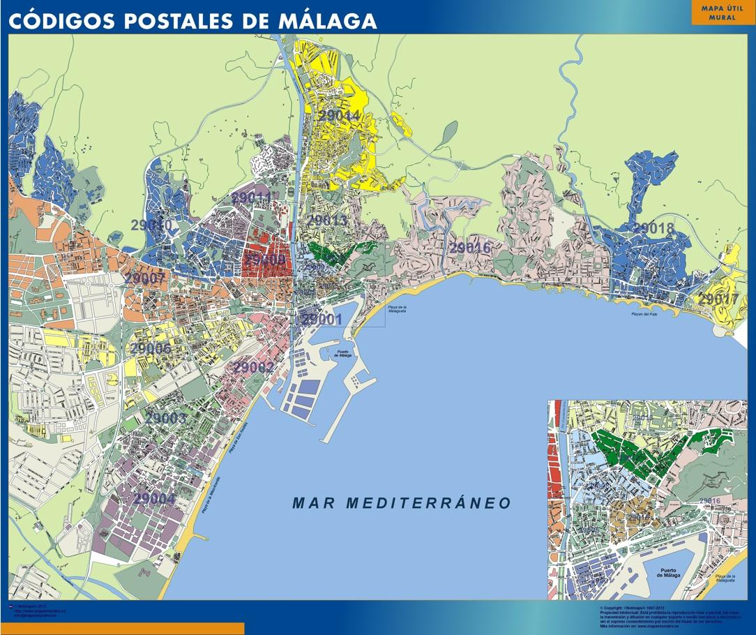 mapa callejero malaga